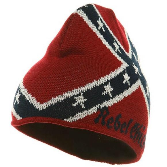 5150eae9b20  LAST ONE  Rebel Chick Flag Beanie Hat NWT OS